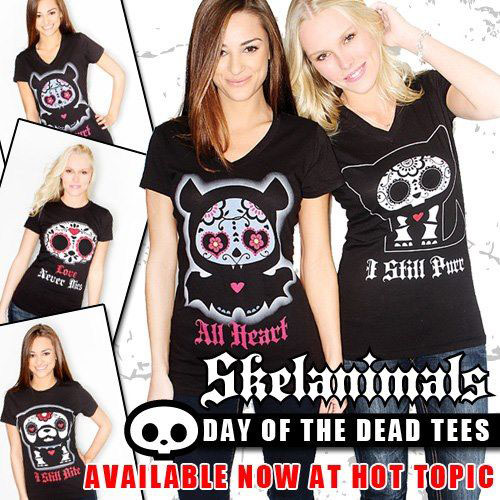 Skelanimals DOTD Tees Hot Topic Ad