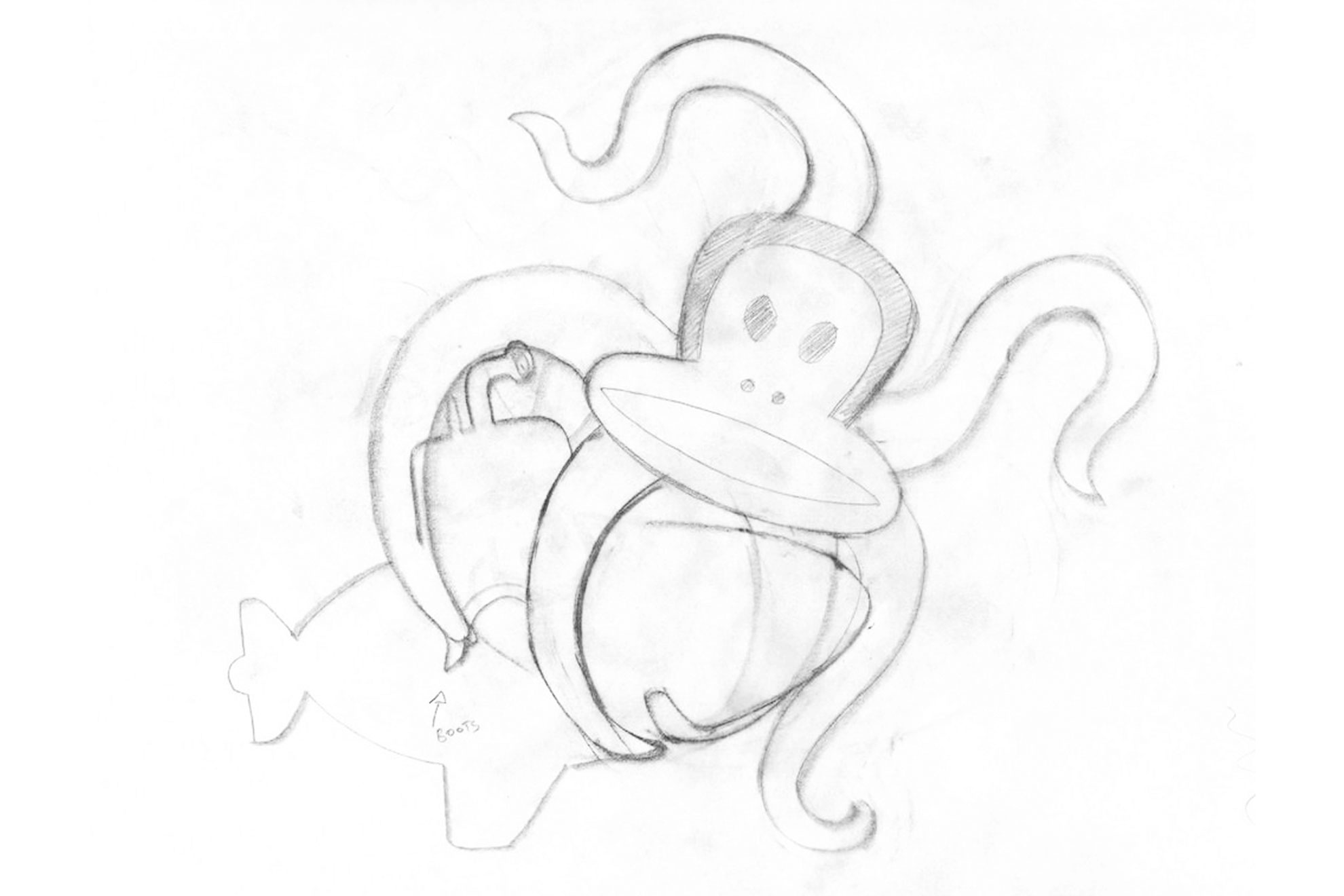 Paul Frank Julius Octopus Sketch